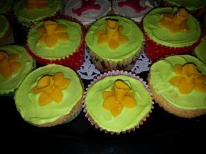 Daffodil cupcakes-2014